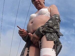 transgender anal dildo in sounding urethral lingerie  2