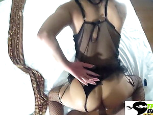 Big titty trans girl ass fucked with a big cock