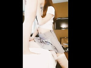 Sissy and cute innocent Asian Ladyboy is a good cocksucker