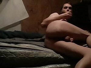 Chastity Cage Ass to Mouth Dildo