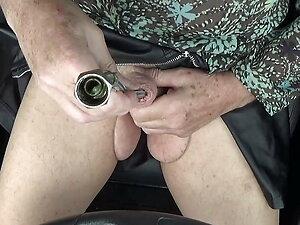 transgender travesti sounding dildo lingerie  outdoor  150a