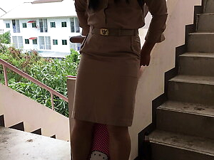 Thai ladyboy teacher SOLO