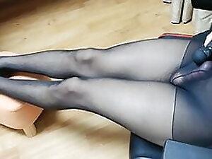 Korean lola sissy Milking Stocking