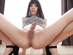 Japanese t-girl posing for you