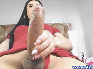 Amazing Masturbation With This Horny Shemale
