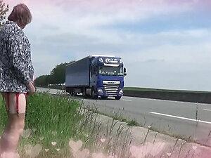 transgender travesti lingerie sounding outdoor road 32