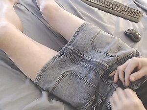 This denim skirt fit like glove