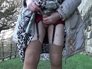 transgender travesti sounding dildo  outdoor road 2a