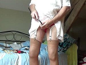 transgender travesti sounding urethral dildo lingerie 136