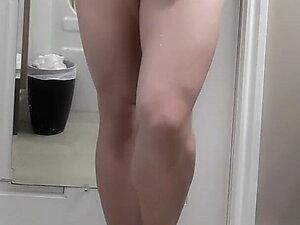 Crossdresser skirt cum drip leg