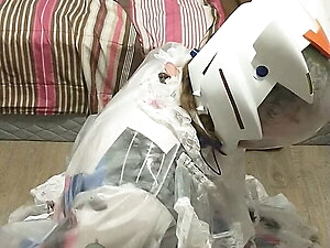 Dva Clear PVC Maid Handcuff Escape Light Breathplay Kigurumi