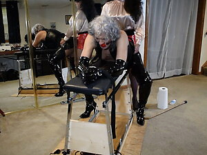 Ronni bound to the Horse and Used by Stephanielorain Cam 1
