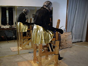 Ronni is Zip-Tied to the Chair for Torment June 21 (Cam 1)