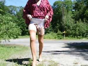 transgender travesti sounding dildo lingerie  outdoor 112a