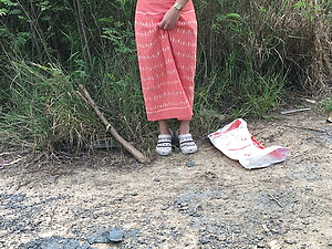 Thailand Orange dress set ladyboy solo