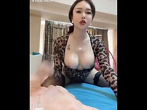 Leopard outfit asian ladyboy slut seeking clients and suck