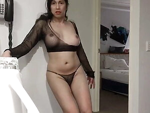 asian trans anairb doing modelling with her nice lingerie