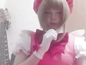 Hentai Sakura-Chan Masturbation(Cross Dresser)