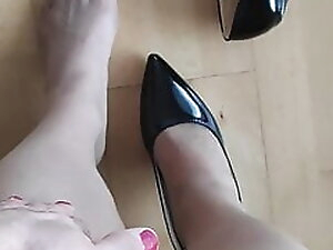 Heels and pantyhose