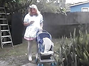 sissy pansy play outside