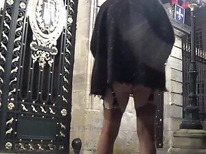 transgender travesti anal dildo sounding lingerie outdoor 55